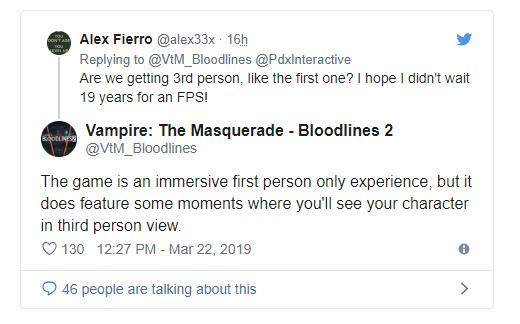 《吸血鬼:避世血族2》支持实时光追/DLSS/Mods