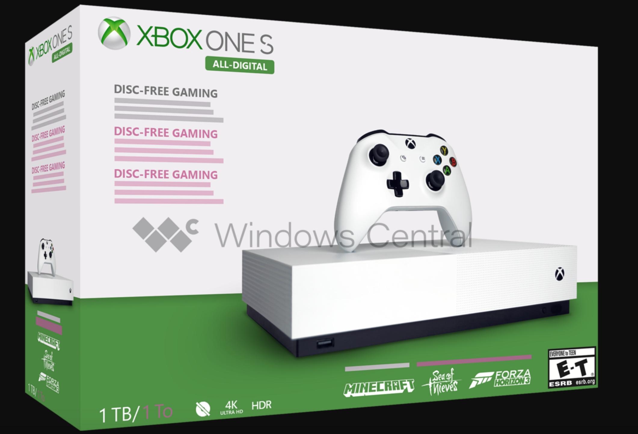 游戏新消息:无光驱版XboxOneS或将于5月7日正式发售