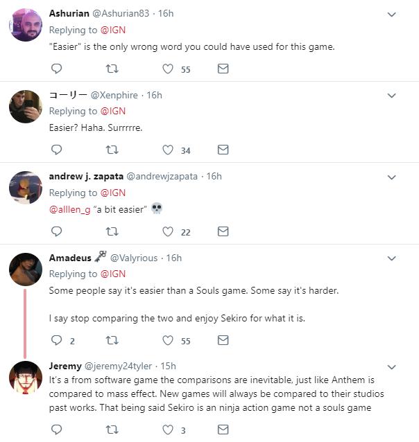 《只狼》比《黑魂》简单? IGN推特引争议