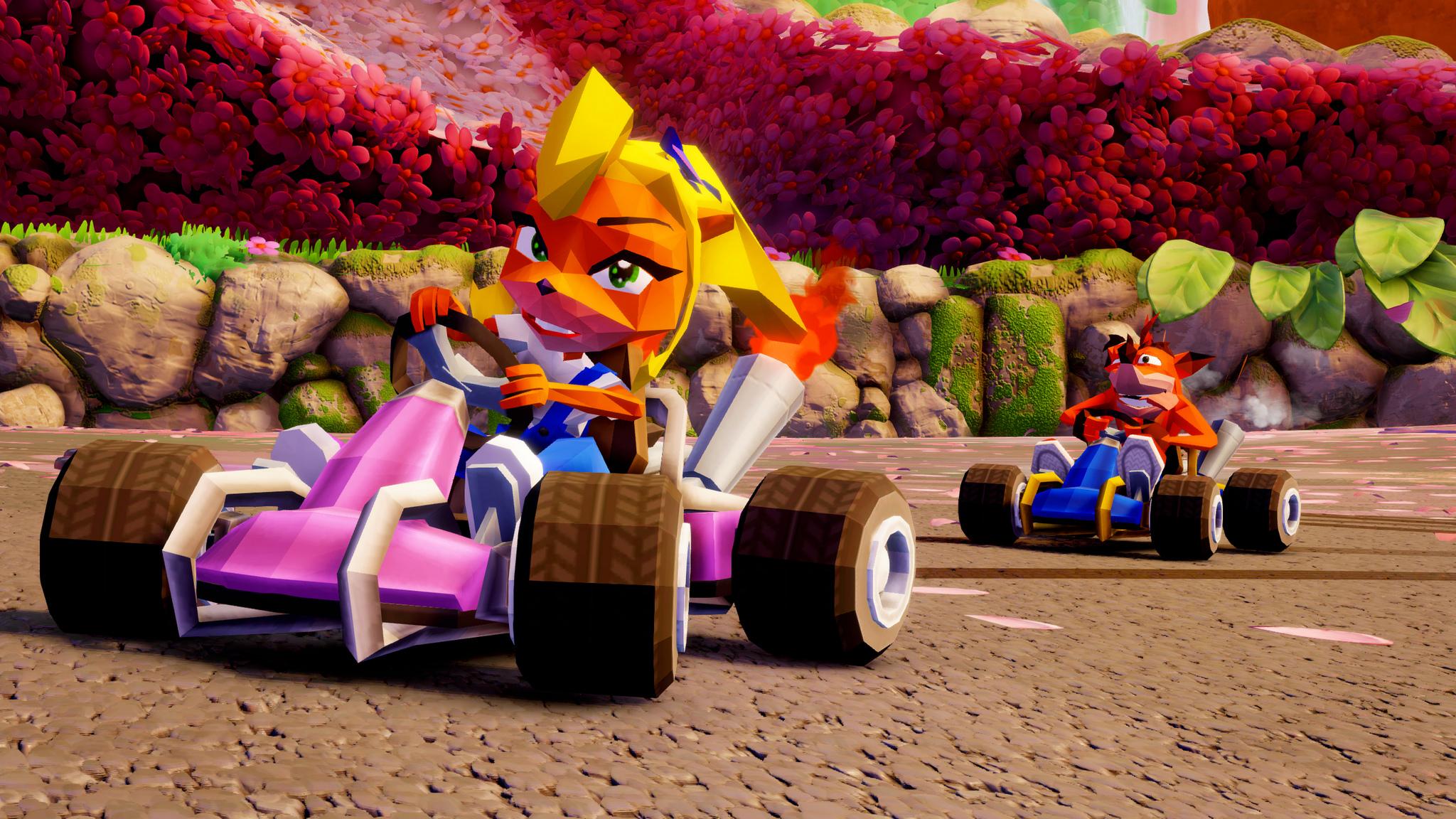 PS4版《古惑狼赛车重制版》独占木头块风格角色赛车及赛道