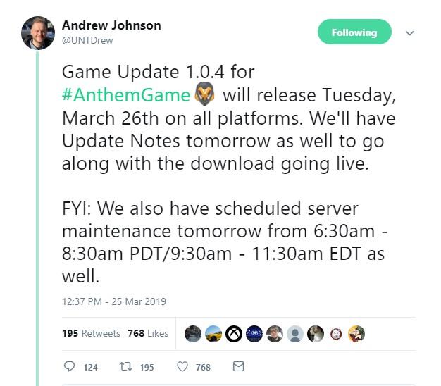 《圣歌》 1.04更新时间公布 今晚9点半到11点半维护