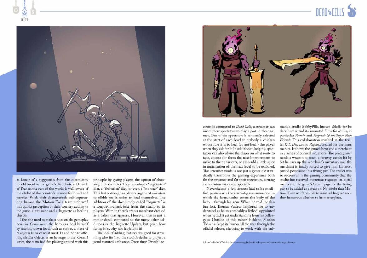 《死亡细胞》推出艺术设定集 精美插画配幕后秘辛