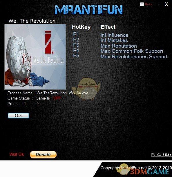 《我们,革命》v1.0五项修改器[MrAntiFun]