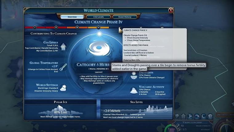"""《文明6》""""风云变幻""""今日更新 调整气候变化速率"""