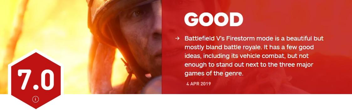 """《战地5》""""火线风暴""""模式IGN仅7分 内容平淡创新少"""