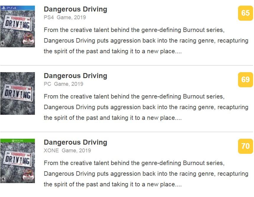 经典却乐趣平平 Epic独占《危险驾驶》IGN 7.2分