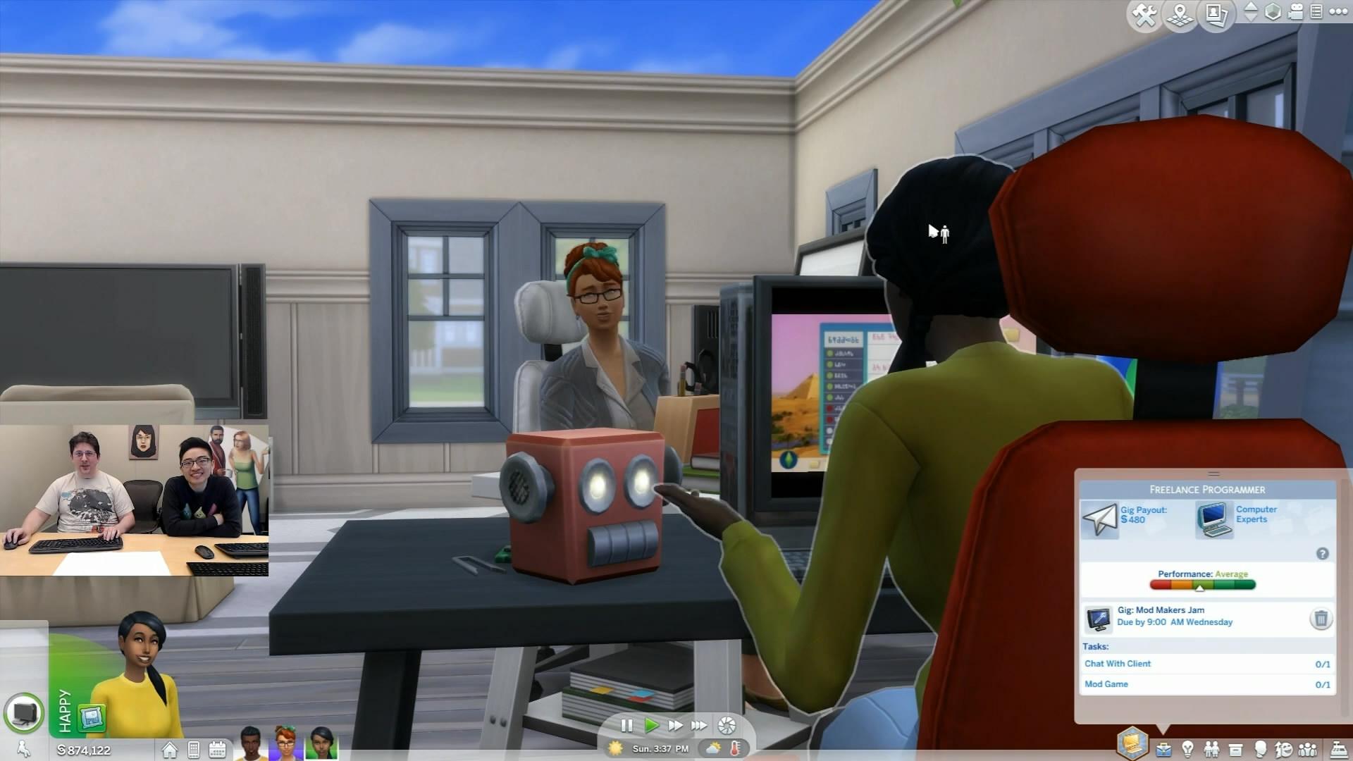 《模拟人生4》下周更新内容 将新增自由职业设定
