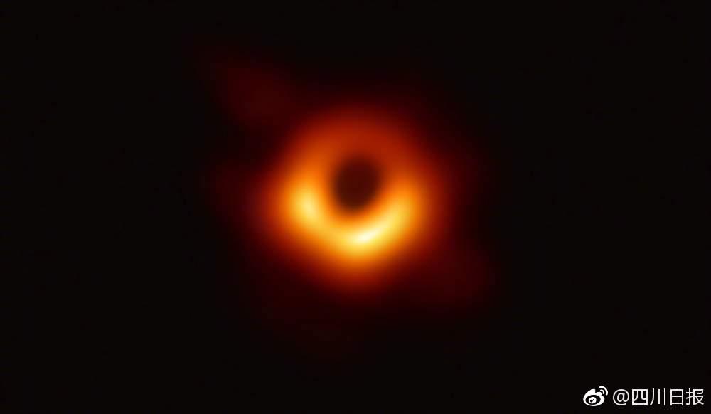 史上第一張黑洞照片發布!距離地球5500萬光年