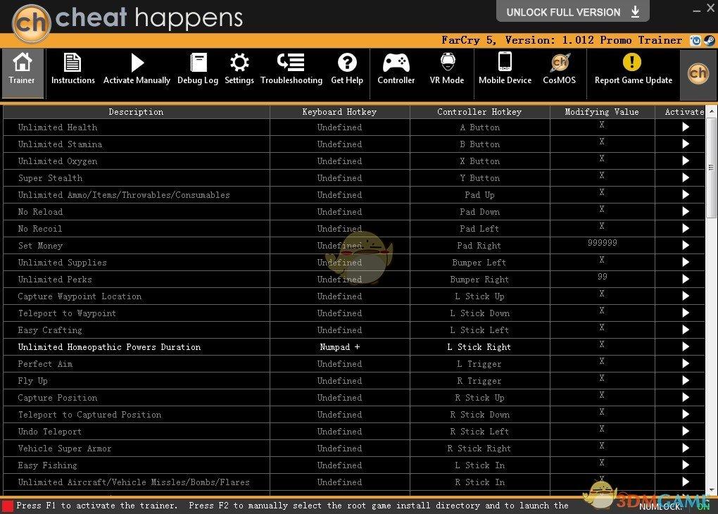《孤岛惊魂5》v1.012二十三项修改器[Cheat Happens]