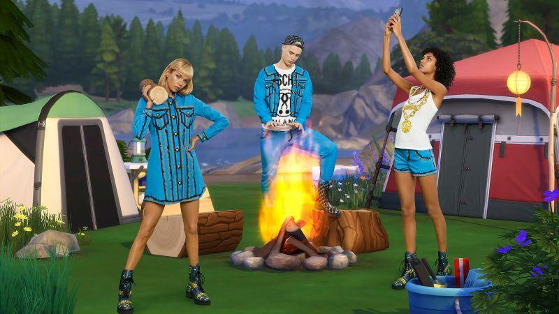 时尚设计师也爱游戏 发布《模拟人生》主题时装图片