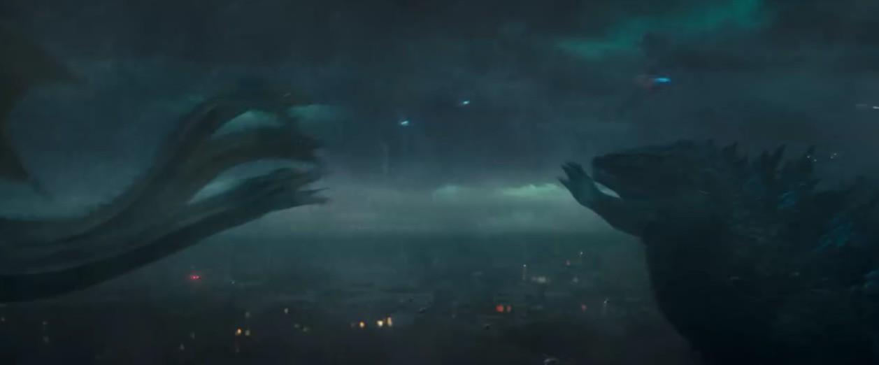 《哥斯拉2:怪兽之王》新预告 萌胖与三头怪互锤燃到爆