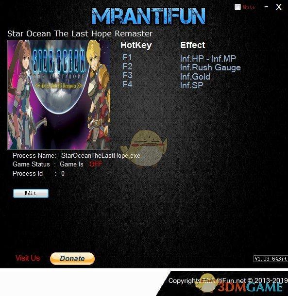 《星之海洋4:最后的希望》重制版v2019.04.11五项修改器[MrAntiFun]