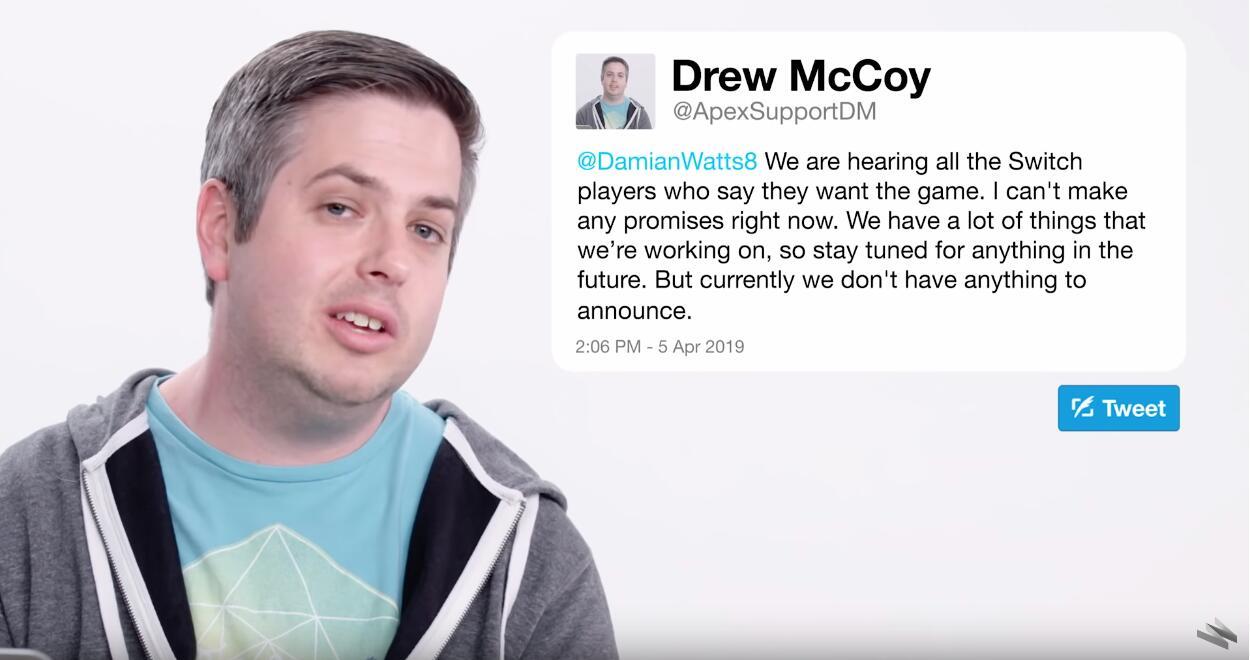 《Apex英雄》总监再谈移植NS 目前无法做任何承诺