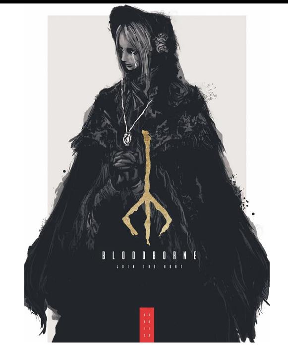 外国粉丝自制《只狼》海报 水墨风下的另一种高贵