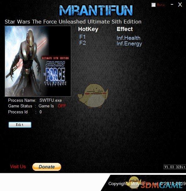《星球大战:原力释放》终极西斯版v2019.04.12无限生命能量修改器[MrAntiFun]