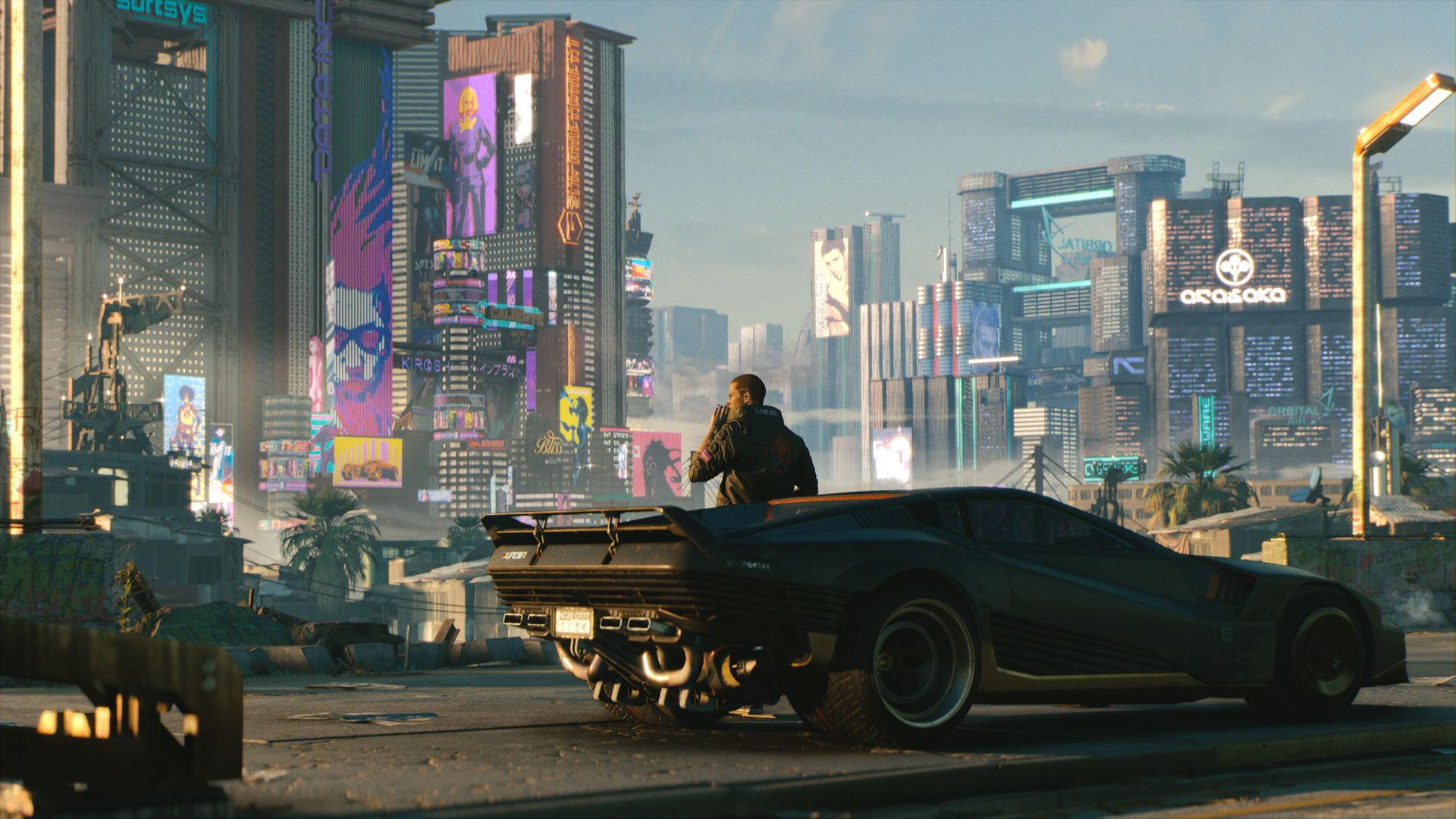 《赛博朋克2077》动态壁纸太酷炫 夜之城完美再现