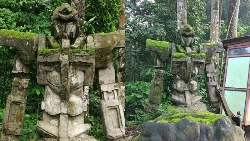 """印尼""""百年历史""""高达石像 引《高达00》导演推特转发"""