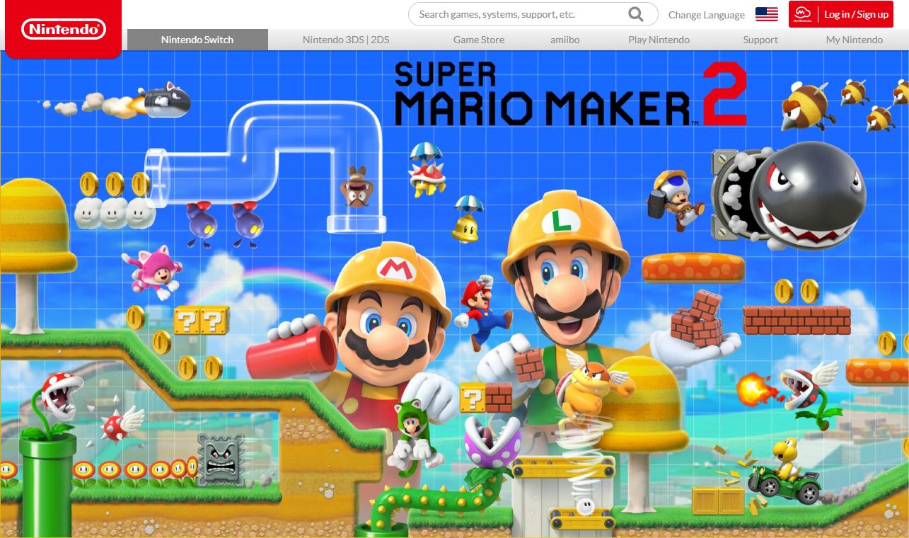 随时创造随地玩 《超级马里奥制造2》官方网站上线