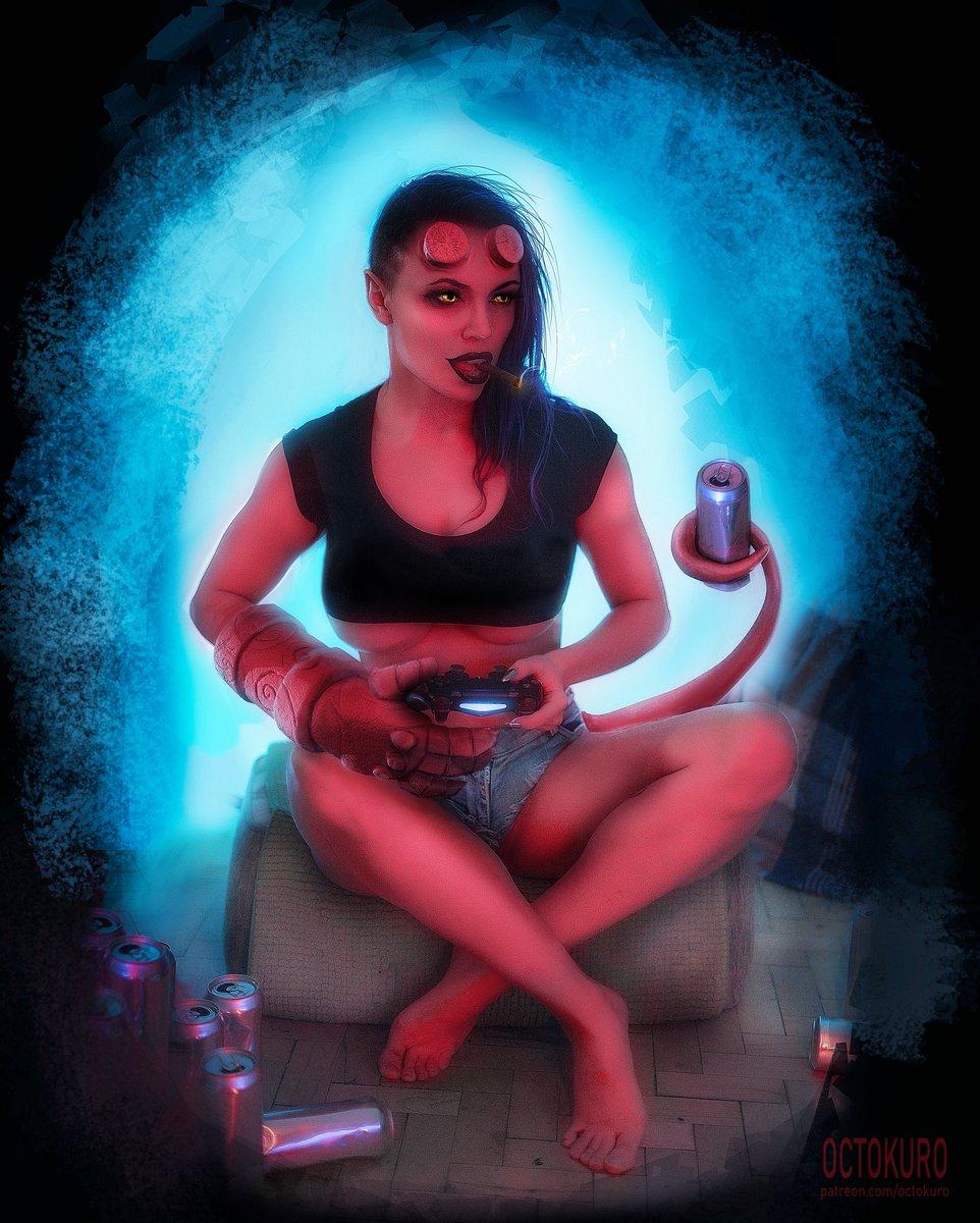 美女Cos《賽博朋克2077》作品 每一張都像游戲截圖