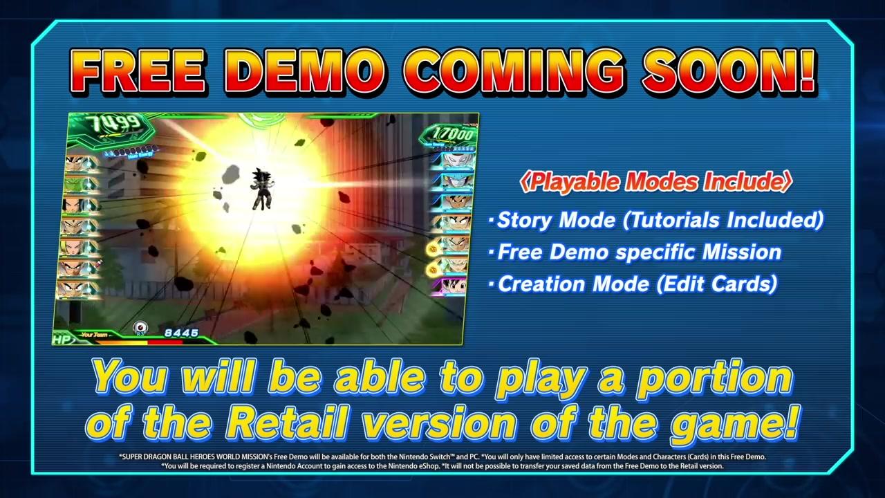 《超级龙珠英雄:世界任务》即将推出新Demo和升级