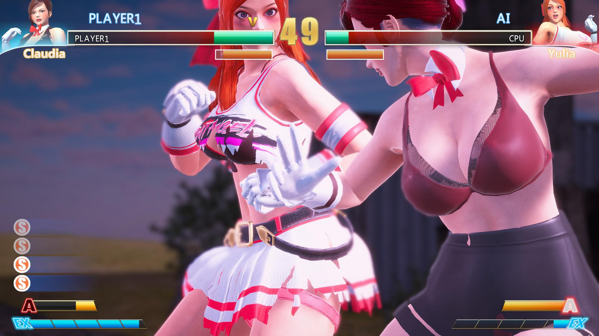 国产格斗《格斗天使》Steam抢先体验 小姐姐乳摇爆衣