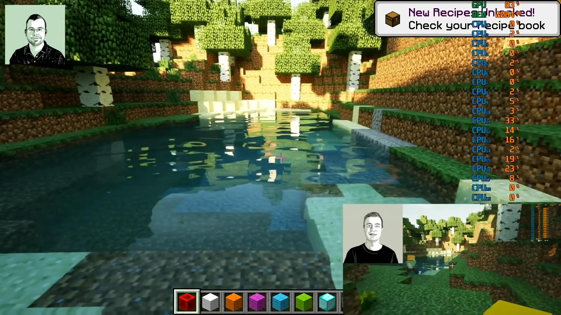 《我的世界》光影效果Mod演示 实时光追效果真实