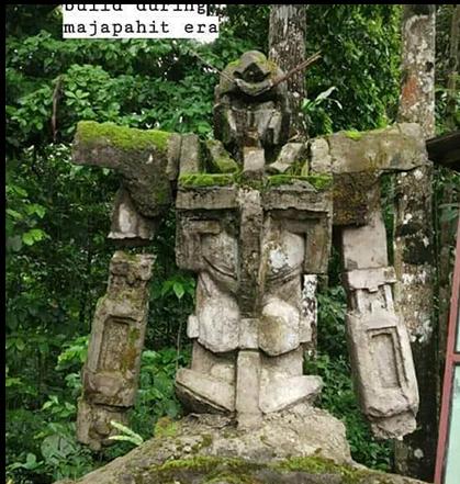 印尼百年神似高达石像是误传!作者证实乃近期人工造物
