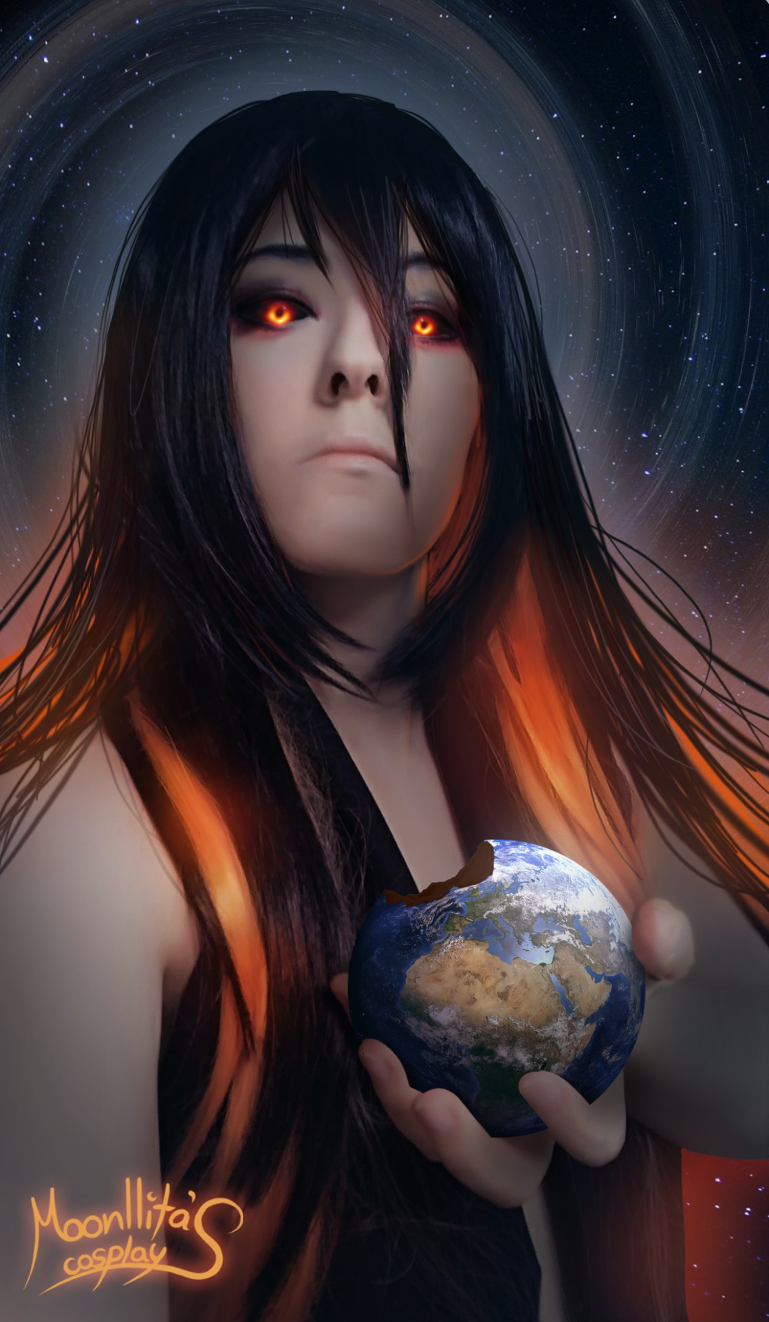 国外妹子黑洞风格Cos美图 邪魅吸睛想吞噬整个宇宙