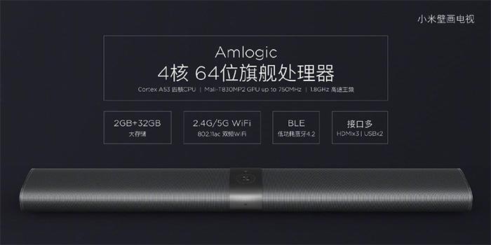 小米发布65寸壁画电视:三星4K面板 6999元