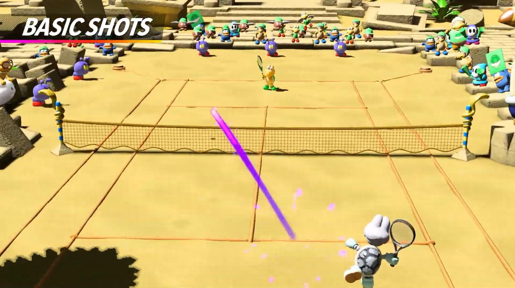 想打死我是不可能的 碎碎龟参战《马里奥网球Aces》