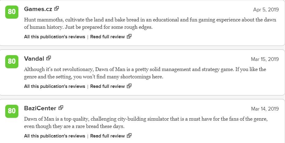 《人类黎明》M站均分74 媒体和玩家评分比较一般