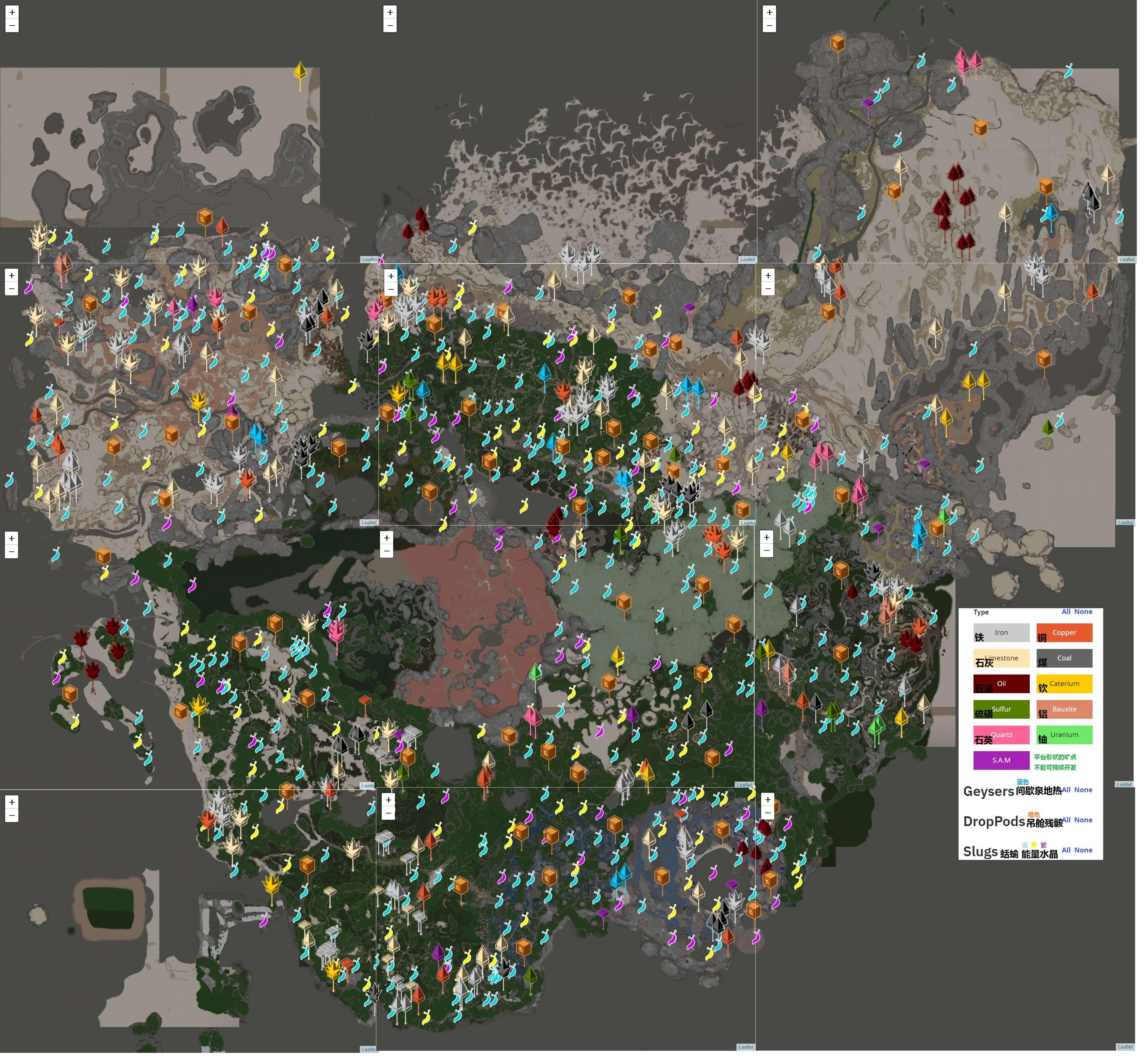 《幸福工厂》全资源点地图分享