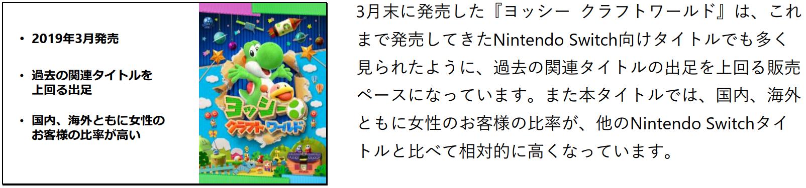 《耀西》女性玩家占比高 《宝可梦:剑/盾》重便携性