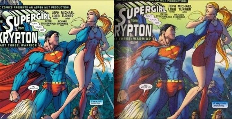 <b>DC漫画遭审查性感画面被和谐 看不到女性曲线粉丝失望</b>