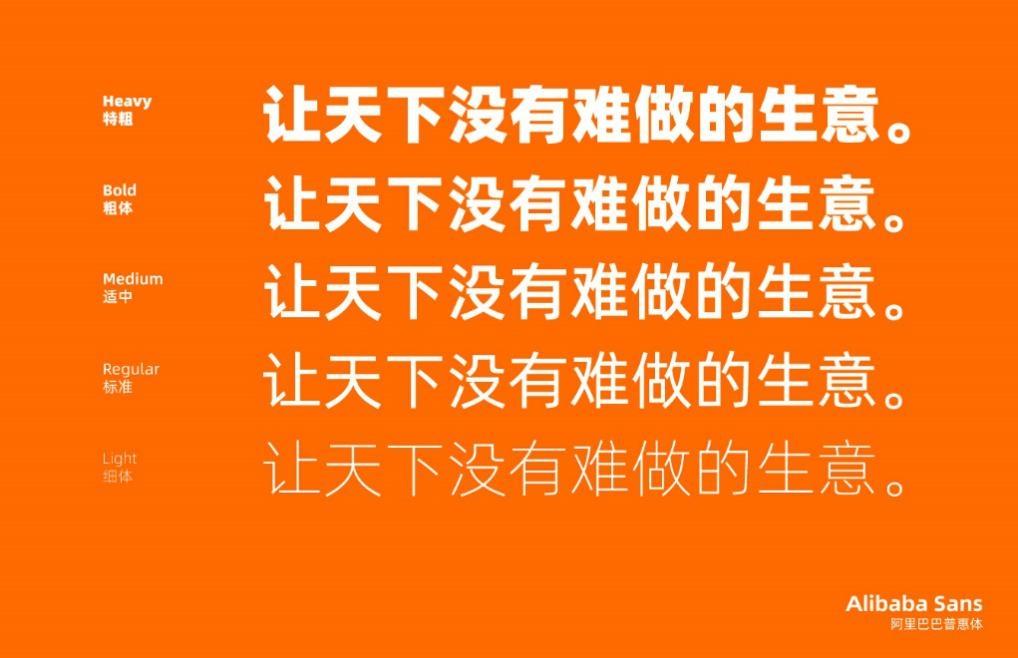 阿里巴巴普惠体发布:免费的官方字体可随便使用