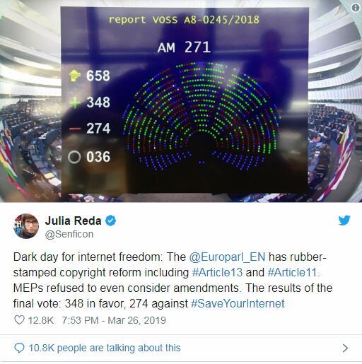 用表情包可能要坐牢!欧洲将在几周内启用全新着作权法案