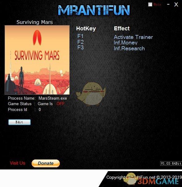 《火星求生》v2019.05.02无限金钱研究修改器[MrAntiFun][Steam]