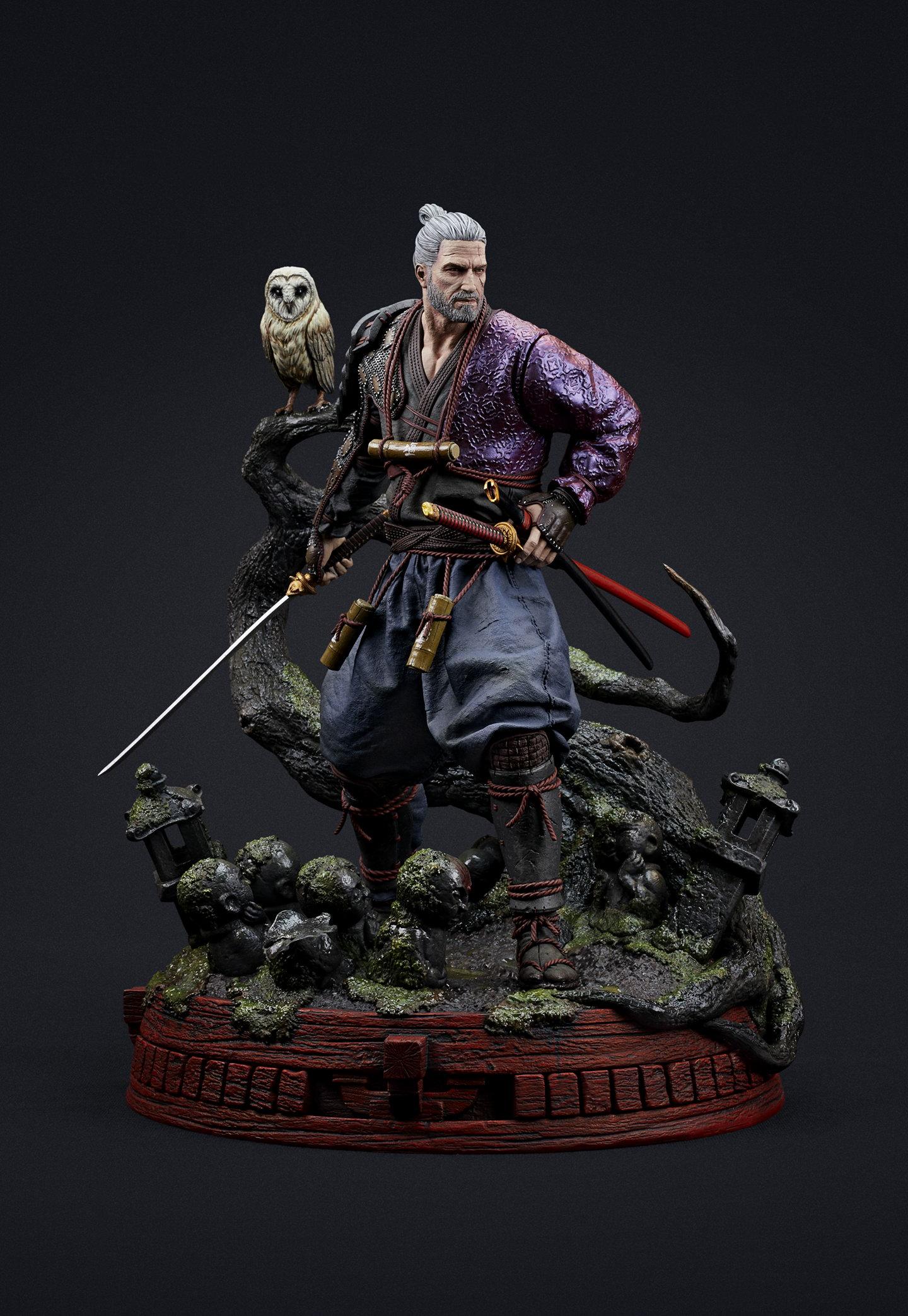 《巫师3》武士风杰洛特手办 欧美与日本文化完美融合