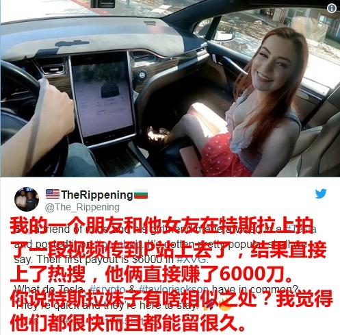 P站女演员在特斯拉上拍片上热搜 马斯克惊呼:自动驾驶用处真多