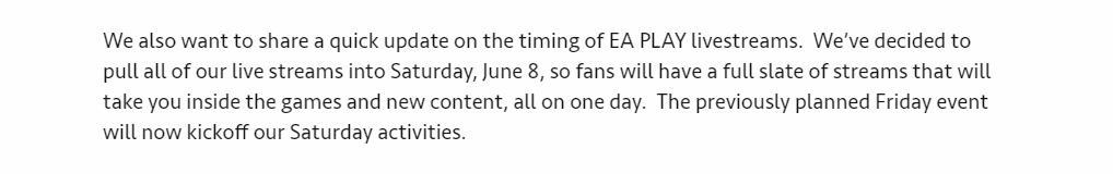 EA紧收缩EA PLAY的颁布匹流动程 所拥有官方信息扎堆6.8壹天
