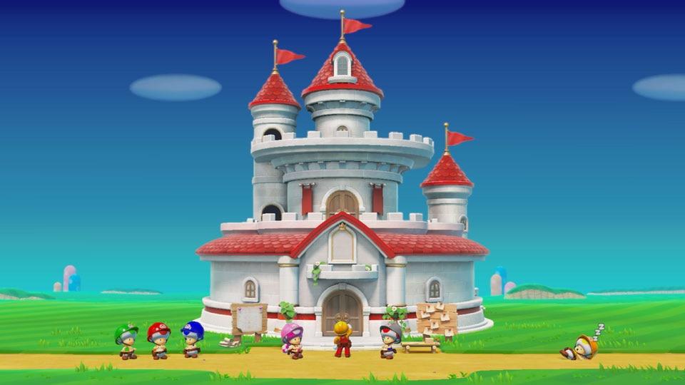 马大叔帮公主修城堡《超级马里奥制造2》新增故事模式
