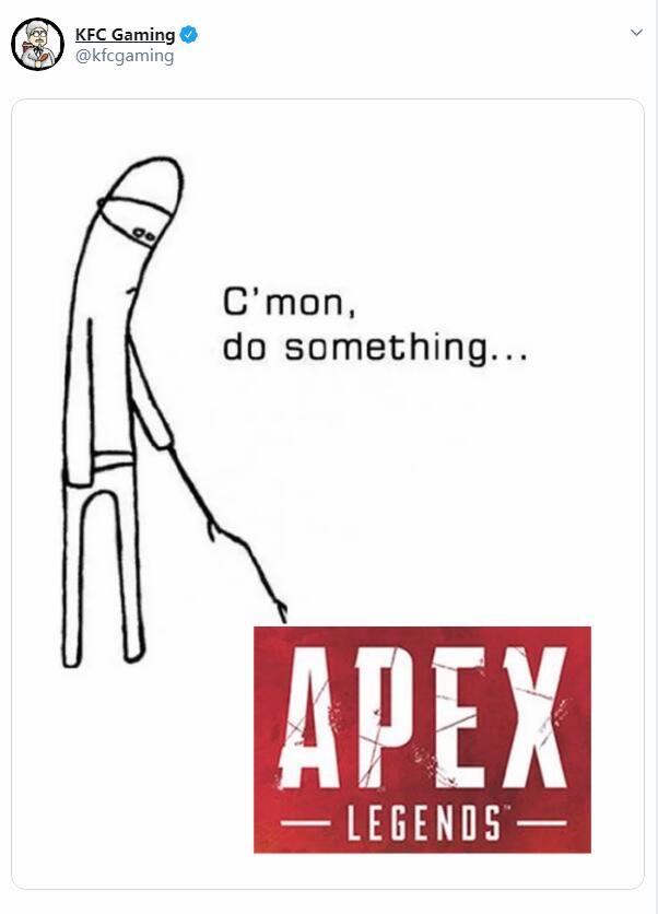 游戏新消息:KFC调侃Apex已经凉凉重生开发者推特辛辣反驳
