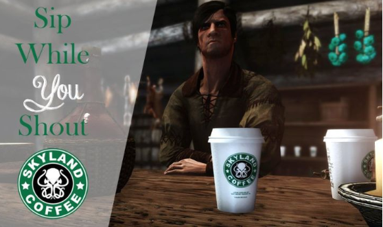 《权游》穿帮咖啡杯成功变成《上古卷轴5》新MOD