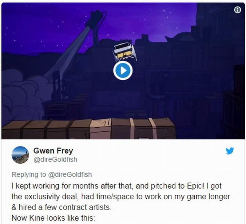 独立游戏《Kine》的开发者称Epic是救世主 游戏独占拯救了他