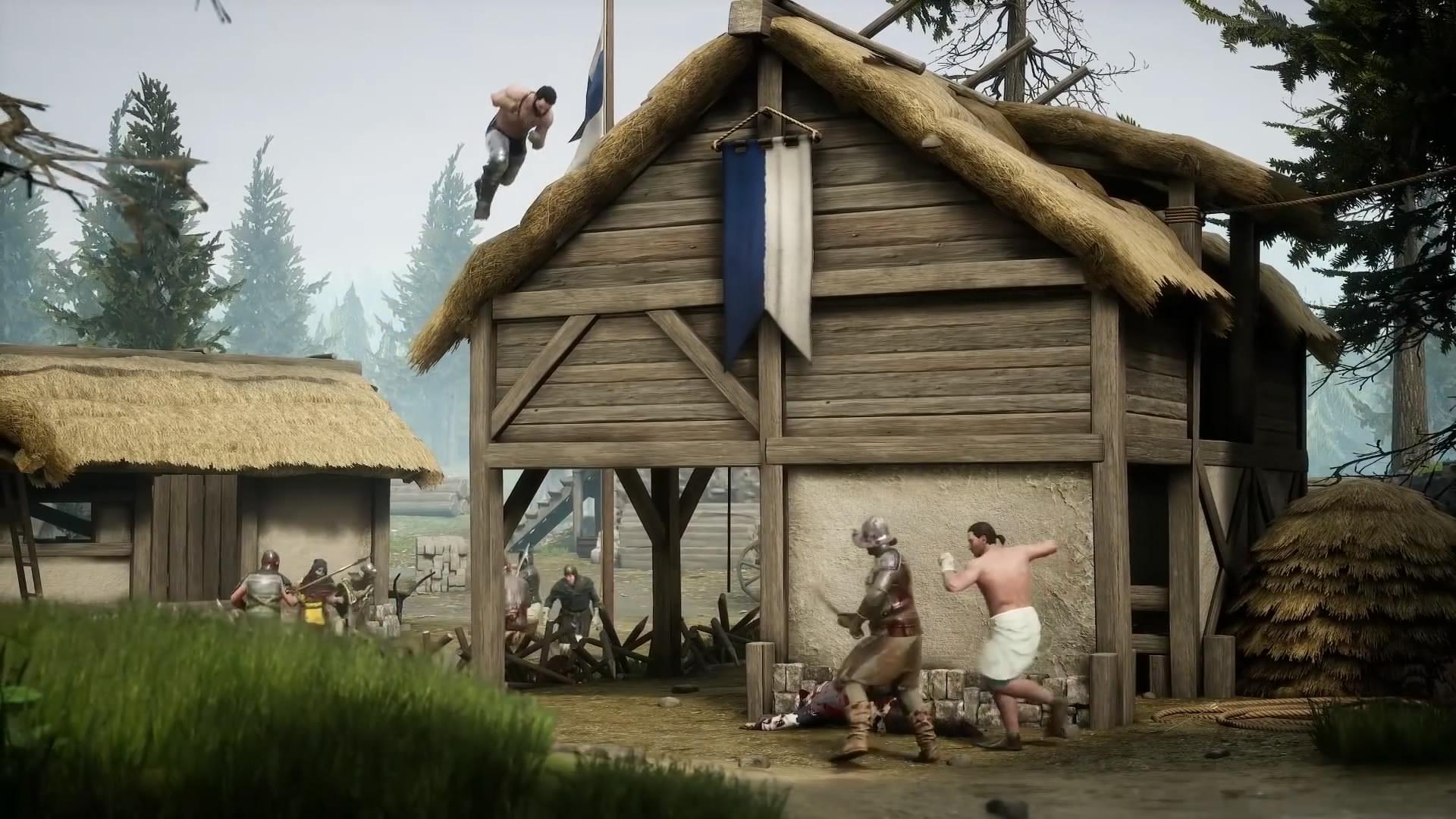 拳皇争霸赛!《雷霆一击》两位猛男赤裸上身打拳架