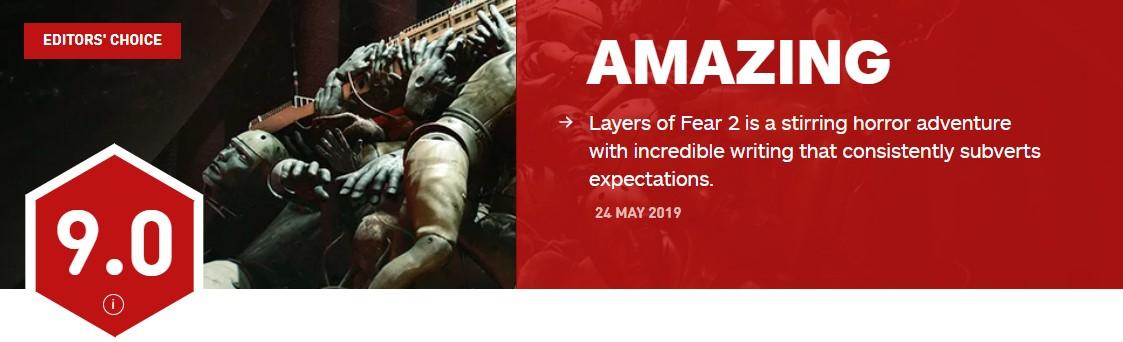 《层层恐惧2》IGN 9.0分:本世代最佳恐怖游戏之一