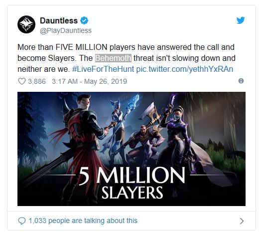 <b>《无畏》游戏人数突破500万 未来将登陆NS和手机端</b>