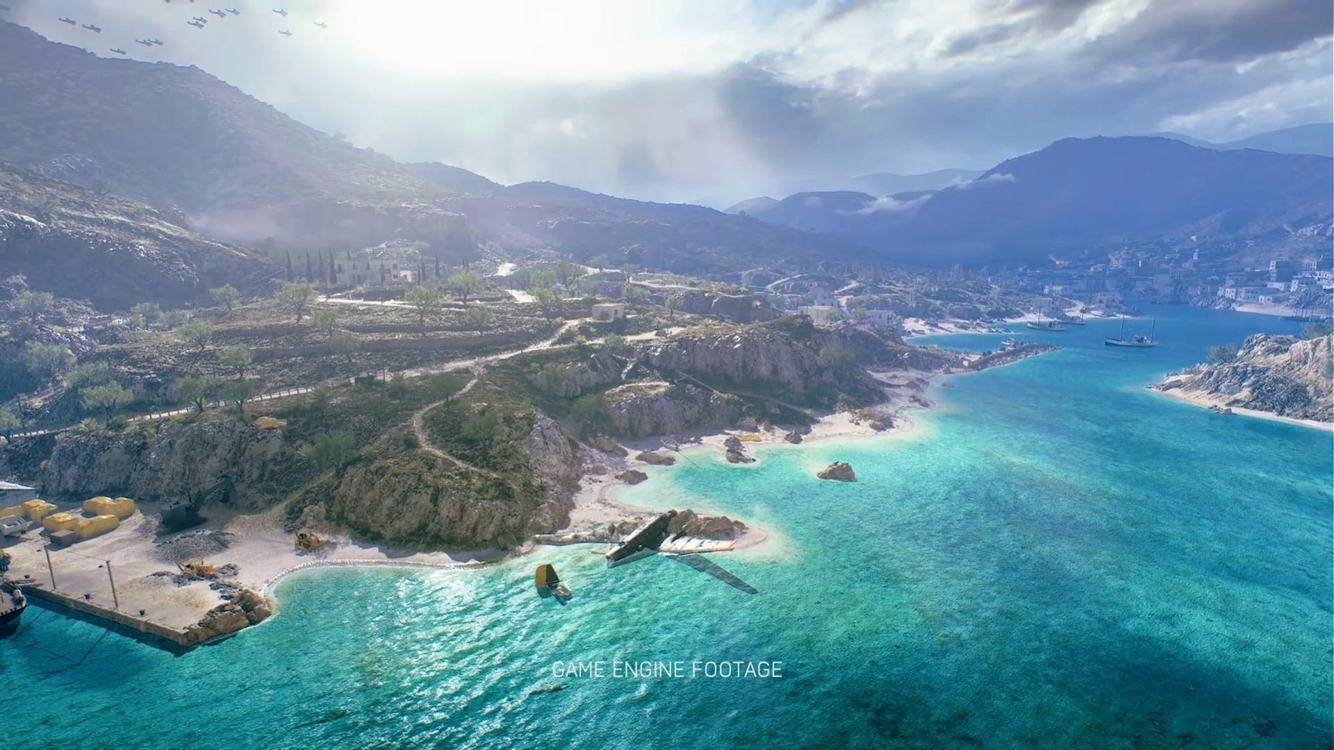"""《战地5》免费地图""""水星""""预告 地中海风景美如画"""