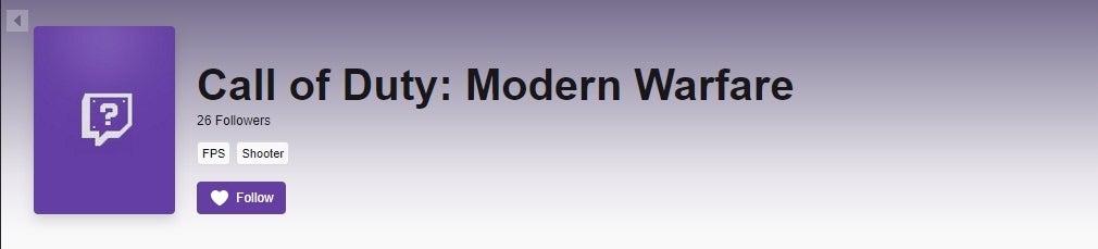 直播网站Twitch实锤《使命召唤16:现代战争》