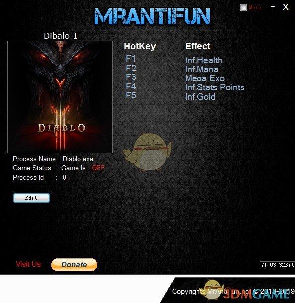 《暗黑破坏神》v1.09五项修改器[MrAntiFun][GOG]
